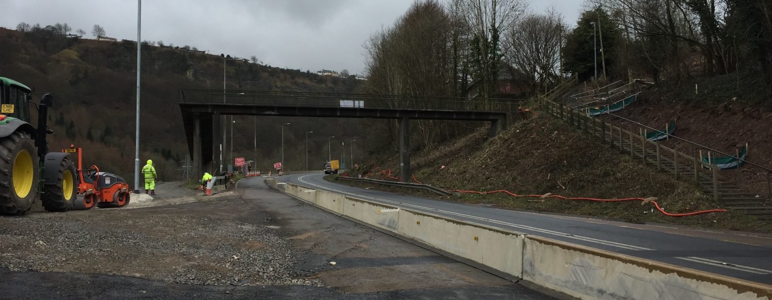 A465 Clydach Footbridge Demolition